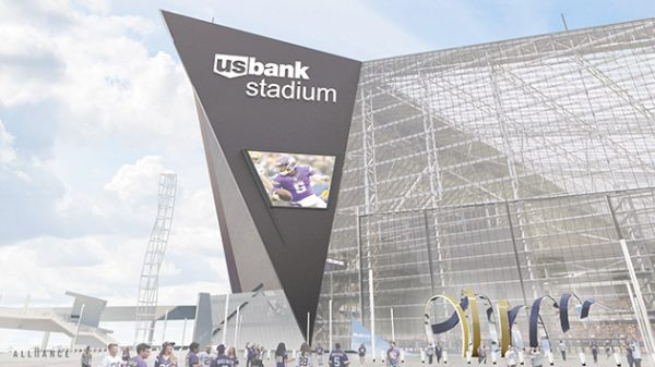 Medtronic Horn Monument at U.S. Bank Stadium