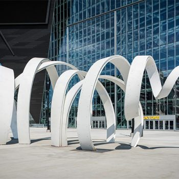 """The Horn"" Monument at U.S. Bank Stadium Medtronic Plaza"