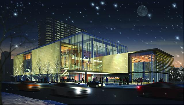Orchestra Hall Rendering